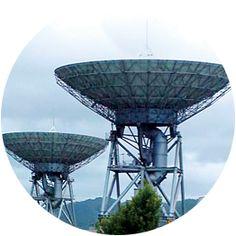 パラボラと衛星通信