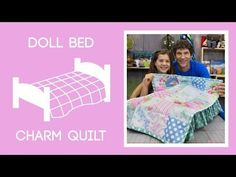 Rob and his daughter Ruby demonstrate how to make a tiny doll quilt using 5 inch squares of precut fabric. We used Sadie's Dance Card Charm Pack by Tanya Whelan for Free Spirit Fabrics. Missouri Star Quilt Tutorials, Quilting Tutorials, Sewing Tutorials, Quilting Tips, Quilting Patterns, Sewing Ideas, Sewing Doll Clothes, Sewing Dolls, Bed Quilt Sizes