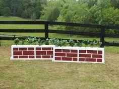 2 Panel Brick/Stone Brush Box Horse Jumps Set/2 10ft