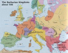Barbarian Map c.500 AD