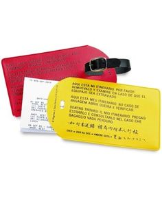 Magellan's Retriever Tags (Set of Two) | Magellan's Travel Supplies. Has a place for your itinerary and tells the finder of your bag that it's there. Makes it easy for your luggage to find you if you get separated!