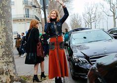 Elizabeth von Guttman in a Louis Vuitton jacket