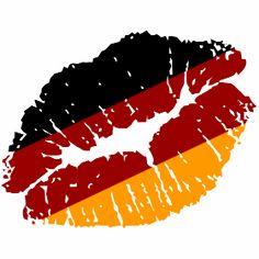 Deutschland Kussmundabdruck - Ein Kussmundabdruck in schwarz, rot und gelb den Farben von Deutschland, passende zur jeder Weltmeisterschaft bzw. Europameisterschaft.