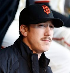 San Francisco Giants' starting pitcher Tim Lincecum (55) on the bench before the game against Arizona Diamondbacks' at AT&T Park in San Francisco, Calif., on Wednesday, April 9, 2014. (Josie Lepe/Bay Area News Group)