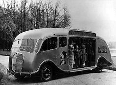 Roget Schneider advertising bus