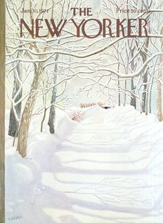 The New Yorker - Saturday, January 30, 1971 - Issue # 2398 - Vol. 46 - N° 50 - Cover by : Ilonka Karasz