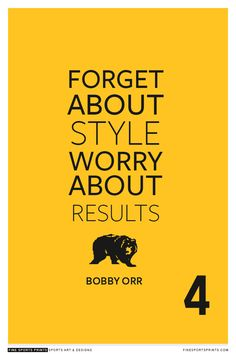 """Bobby Orr Quote on Print. See more at www.finesportsprints.com #orr #sportsquote #bruins"""