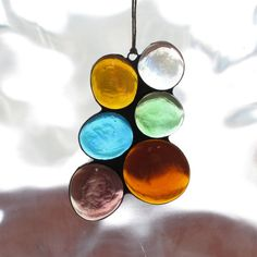 Stained Glass Abstract Suncatcher Large Gems by paintedlightglass, $18.00