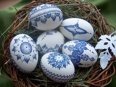 Decorated Easter eggs - Happy Easter from Egg Crafts, Easter Crafts, Egg Shell Art, Carved Eggs, Easter Egg Designs, Ukrainian Easter Eggs, Easter Traditions, Easter Projects, Easter Parade