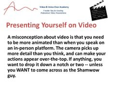 Another tip for making professional videos.