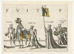 Deel van de optocht, nr. 8, Joannes van Doetechum (I), Lucas van Doetechum, Hieronymus Cock, 1559