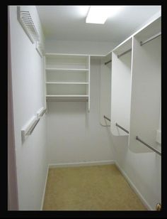 build a narrow walk in closet - Google Search