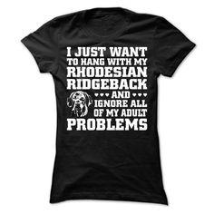 Rhodesian Ridgeback T-Shirts, Hoodies. GET IT ==► https://www.sunfrog.com/Pets/Rhodesian-Ridgeback-64116216-Ladies.html?id=41382