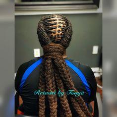 No automatic alt text available. Men Dread Styles, Dreadlock Styles, Dreads Styles, Curly Hair Styles, Natural Hair Styles, Dreadlock Hairstyles For Men, Black Men Hairstyles, Dread Braids, Mens Braids