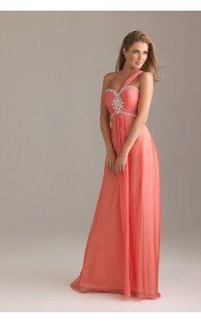 Belle robe de bal Colonne Seule épaule Longueur ras du sol Mousseline