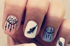 Boho nails; I'm falling in love with the trend. It's a great way to do Autumn Nails and still be stylish.