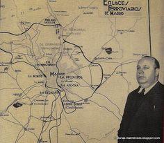 Indalecio Prieto con su Plan de Enlaces Ferroviarios de Madrid. Foto Fundación Indalecio Prieto