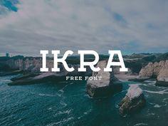 Ikra Free Font Vintage geometric slab serif typeface