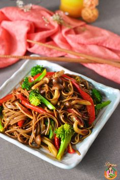 Stir-fried Vegetarian Soba   Delishar Gluten-free, vegetarian