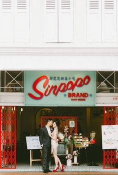 Shot taken in the historic Joo Chiat area   Blast from the Past: A Vintage Singapore Themed Styled Shoot
