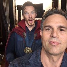 Avengers: Infinity War's Mark Ruffalo sends Benedict Cumberbatch birthday wishes via a BTS photo from MCU film