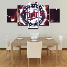 Pictures Vintage Home Decor Paintings City Decoration 5 Pieces Paintings On Canvas Posters And Prints Pictures On The Wall Baseball Canvas, Canvas Wall Art, Wall Art Prints, Minnesota Twins Baseball, Clemson Baseball, Sports Wall, Panel Wall Art, Decorating Your Home, Wall Decor