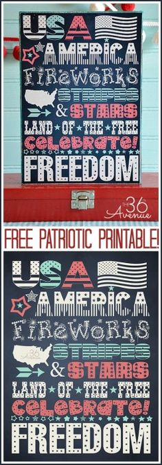 The 36th AVENUE | 4th of July Free Printable
