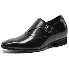 3e1a17126947 CHAMARIPA Chaussures en Cuir pour Hommes Classiques Affaires Oxford Chaussures  rehaussante Chaussures Mariage décontracté - 7cm