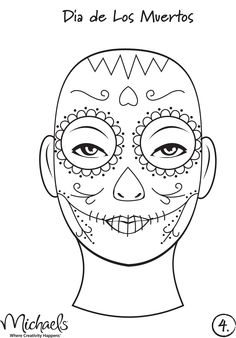 "My daughter received an invitation to a Halloween Party for the other night. ""But it's not Halloween yet,"" I puzzled. ""It's a few weeks ea. Halloween Kostüm, Holidays Halloween, Halloween Decorations, Halloween Costumes, Vintage Halloween, Sugar Skull Makeup, Sugar Skulls, Candy Skulls, Dead Makeup"