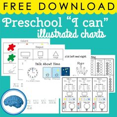 Early Learning Concept Reference Sheets Calendar & Weather Work Alphabet Linking Chart Counting with the tens frame Left and right hands Time Shapes Colors Math Concepts: Sort, Compare, Patterns