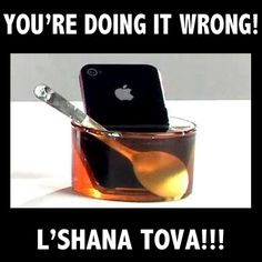 Jewish tradition says we should dip an apple into honey for a sweet new year at Rosh Hashanah L Shana Tova, Jewish High Holidays, Yom Teruah, Yom Kippur, Rosh Hashanah Greetings, Jewish Humor, Messianic Judaism, Youre Doing It Wrong, Hanukkah