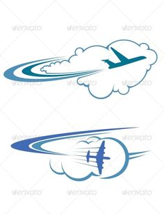 Flying Airplanes in Sky - Travel Conceptual