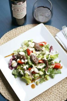 Steak Salad with Horseradish Dressing #CRIOSinspires