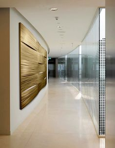 Golden waves of wall art ... #Móz #Moz #Metal #Metallic #Design #Designer #Surface #Surfacing #Architecture #Modern #Contemporary #Decor #Decorative #Material #Materials #Cover #Art #Fashion #Interior #Aluminum #Neutral #Handcrafted #Color #Laminate #Building #Room #Commercial #Corporate #Construction #Urban #Bold #Inspiration #Manufacturing #Manufacturer #Gold #Golden #Wall #Feature #Focal #Weave
