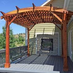 The pergola kits are the easiest and quickest way to build a garden pergola. There are lots of do it yourself pergola kits available to you so that anyone could easily put them together to construct a new structure at their backyard. Pergola On The Roof, Pergola Cost, Building A Pergola, Pergola Canopy, Pergola Attached To House, Cheap Pergola, Covered Pergola, Outdoor Pergola, Backyard Pergola