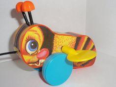 Toy Vintage Bouncy Bee by SocialmarysTreasures on Etsy, $5.99