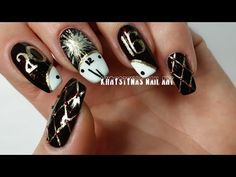 New Years Nail Art | Freehand DIY - YouTube More