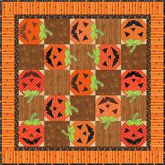 Jack O'Lantern Quilt: Free Pattern on Craftsy
