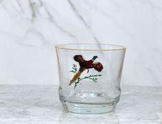 Ring Necked Pheasant Glass Ice Bucket, Barware