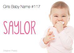 baby name: Saylor