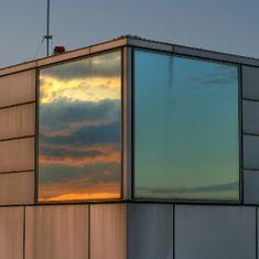 elayesildogan: Sky Reflections, Osaka by Martin. Creative Writing Classes, Tumblr, Osaka, Architecture Design, Garage Doors, Clouds, Windows, Cool Stuff, Wallpaper