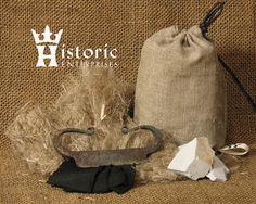 Fire Starter Kit with Flint & Steel - medieval