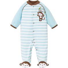 Little-Me-Boys-1-piece-Sleeper-Blue-Monkey