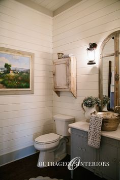 Our farmhouse style decor will look great in your bathroom!