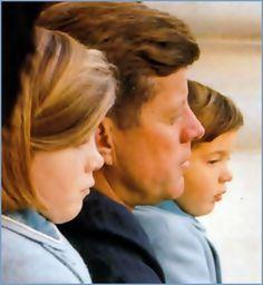 Caroline, JFK and John Jr.