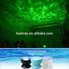 Upgrade Version Remote Control Ocean Wave Projector Nightlight Music  Player/TF Card/Hypnosis Music