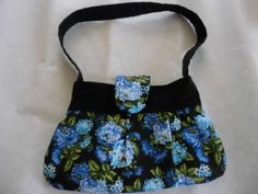 Little girls Blue Floral purse by SewManyLoves on Etsy
