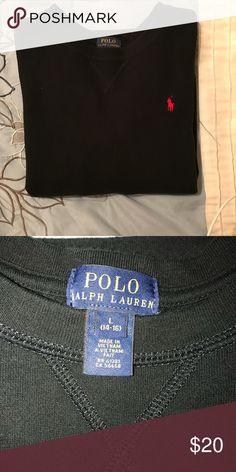 Black Sweatshirt - Ralph Lauren Boys Large 14-16 Ralph Lauren Sweatshirt, Black with red horse. Boys Large 14-16. Great condition. Polo by Ralph Lauren Shirts & Tops Sweatshirts & Hoodies