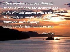 God and faith.
