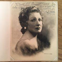 Mary Garden Autographed Photo 12/12/1935 - copyright G Maillard Kesslere